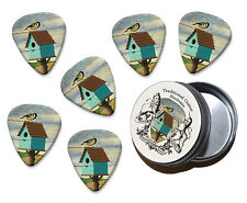 Bird Box Martin Wiscombe 6 X Guitar Picks In Tin Vintage Retro