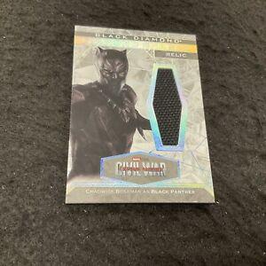 CHADWICK BOSEMAN as BLACK PANTHER Memorabilia Relic 2021 UD Marvel Black Diamond
