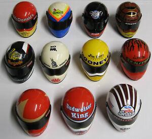 11 Simpson 1:4 Scale NHRA Mini Helmets: Prudhomme, Schultz, Force, McEwen, more