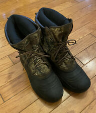 FIELD & STREAM CAMO THINSULATE ULTRA 600 GRAM HUNTING WINTER BOOTS Men's Size 12