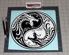 "10"" Chinese Dragons Ying Yang Vinyl Decal Sticker Truck Car PC"