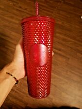 24oz Starbucks Cup Studded Mexico Berry Tumbler Strawcup With SKU Tag