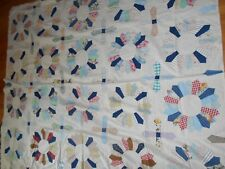 HAND MADE QUILT TOP 81 1/2 X 68 NEED A BACK SMOKE FREE NO STAINS