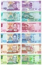 Malawi 20 + 50 + 100 + 200 + 500 + 1000 Kwacha Set of 6 Banknotes 6 PCS  UNC