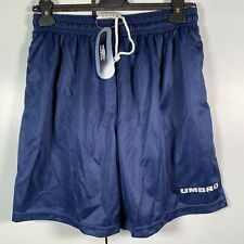 Umbro Men's Navy Blue Shorts Football Running Athleisure Size L 34/36