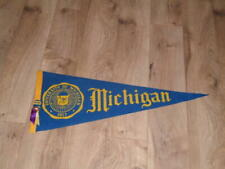 VINTAGE 1940'S MICHIGAN FOOTBALL PENNANT FULL SIZE WITH PIN BUTTON