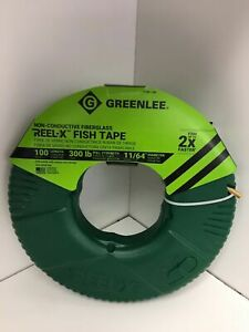 NEW Greenlee FTXF-100 REEL-X 100' Non-Conductive Fish Tape QIK Shipping !