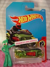 Fly-By #279☆green motocycle;red;yellow☆Da redevils☆2017 i Hot Wheels☆Case M/N