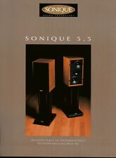 Sonique 5.5 Original Speaker Spec Sheet