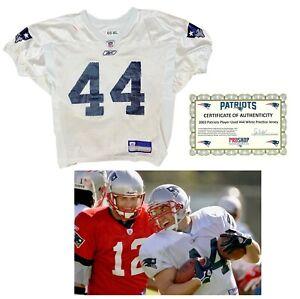 Heath Evans New England Patriots NFL Practice Worn Jersey COA Lik Game Used Worn