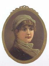 Antique diecut Victorian Hood's Sarsaparilla Calendar trade card 1896