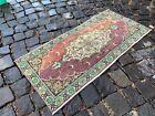 Vintage Turkish small rug, Handmade wool rug, Doormats, Decor rug | 1,4 x 3,3 ft