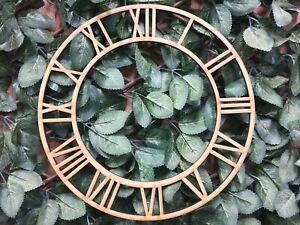 MDF Clock Face Roman Numeral Wall Art Craft