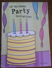 18th Birthday Party Invitations Pad Cake -20 Sheet Invites