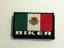 MOTORBIKE RIDER COUNTRY FLAG SEW/IRON ON PATCH:- BIKER MEXICO