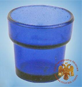 2PCS Orthodox Vigil Lamp Glass Kantili Cup Replacement Ewiglicht Ersatzglas