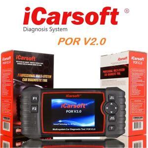 iCarsoft POR V2.0 für Porsche Diagnose Scanner OBD 2 Diagnosegerät Öl Service
