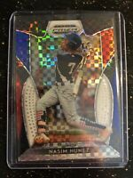 2019 PANINI PRIZM DRAFT PICKS NASIM NUNEZ RED WHITE BLUE PRIZMS MIAMI MARLINS
