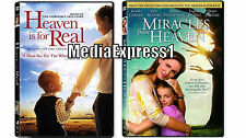 2 Pack - Miracles from Heaven & Heaven Is For Real DVD NEW Eugenio Dervez SEALED