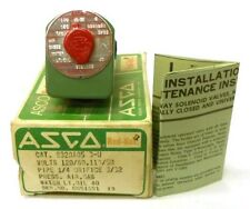 ASCO RED HAT 3 WAY SOLENOID VALVE 8320A85, 6W, 110/120V, 1/4 PIPE, 3/32 ORIFICE