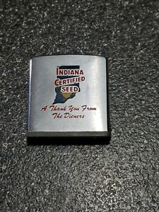 Vintage Indiana Certified Seed Zippo Advertising Tape Measure Ruler. Used