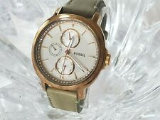 FOSSIL CHELSEY MULTI-FUNCTION LEATHER STRAP LADIES WATCH ES3357 (72)