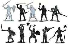 Marx Recast 60mm Nottingham Knights - 25 Figures in 8 poses - unpainted plastic