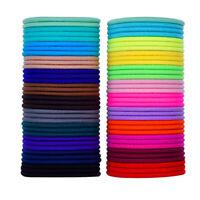 100 Pezzi 4Cm Fasce per Capelli Elastiche Multicolore Cravatta per Capelli  F9B2