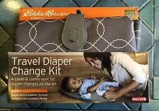 Eddie Bauer First Adventure Travel Diaper Change Kit Pad Gray White Baby New!