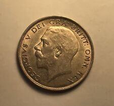 1921 British Half Crown - AMAZING AU+ CONDITION