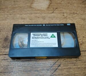 Teenage Mutant Hero Turtles The Invasion of the Punk Frogs VHS 1990 Tape Only
