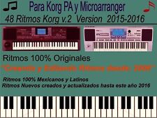 KORG PA / KORG MICROARRANGER / 48 RITMOS MEXICANOS Y LATINOS VERSION 2.0   2016