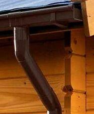 Dachrinne Kastenform Rinnensatz Regenrinne1x500cm braun Komplett-set