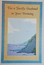 1 Birthday Greeting Card/Envelope Husband Spouse Dependable Thankful Love Happy
