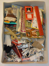 Box of Vintage Sewing Items plus various other materials etc.