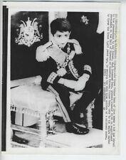 1967 ORIGINAL PRINCE IRAN REZA PAHLAVI VINTAGE PHOTO TEHRAN SHAH CROWNED