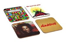 Bob Marley Awesome Exodus Wailers Dread 4 Piece Wooden Coaster Set