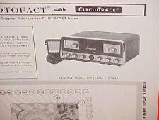1969 REGENCY CB RADIO SERVICE SHOP MANUAL MODEL IMPERIAL (CB-253)
