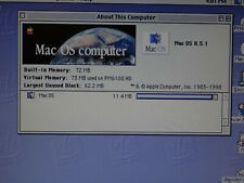New ListingApple Macintosh Power Pc 6100/66 Computer 72Mb Ram 250Mb Hd Mac Os 8.5 Boots