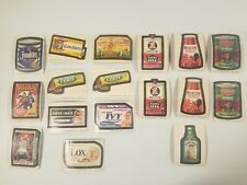 Lot of 17 WACKY PACKAGES Stickers from 70s / 80's