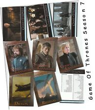 Game Of Thrones Season 7 (Seven) - 81 Card Basic/Base Set & Free P1 Promo - 2018