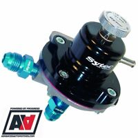 Sytec Black SAR Adjustable Fuel Pressure Regulator -6 JIC 1-5 BAR 1:1 ADV