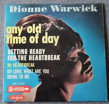 Dionne Warwick, any old time of day, EP - 45 tours