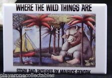 "Where the Wild Things Are - 2"" X 3"" Fridge / Locker Magnet."