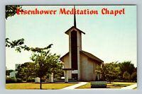 Abilene KS, Eisenhower Memorial Meditation Chapel, Chrome Kansas Postcard