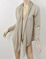J. JILL Natural Beige Semi-Sheer Lightweight Linen Knit Open Cardigan Sweater M
