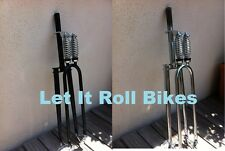 """BICYCLE HEAVY DUTY DOUBLE SPRINGER FORK DISC TAB 1"""" or 1-1/8"""" CRUISER BIKES NEW!"""