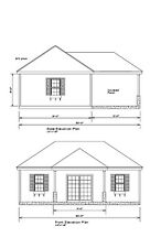 Pool House Pool Cabana Plans 30X18 Cabana Print Blueprint Plan 17-3018Ph-Hip-1