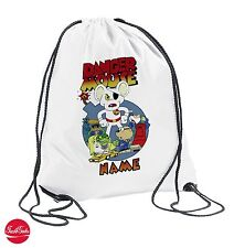 Danger Mouse Personalised Drawstring Bag PE School boys girls