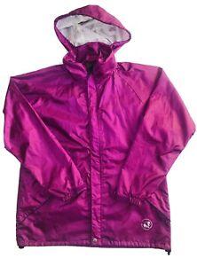 Wild Country Womens Size 14 Waterproof Jacket Wild Dry Hiking Rain Wind  Purple